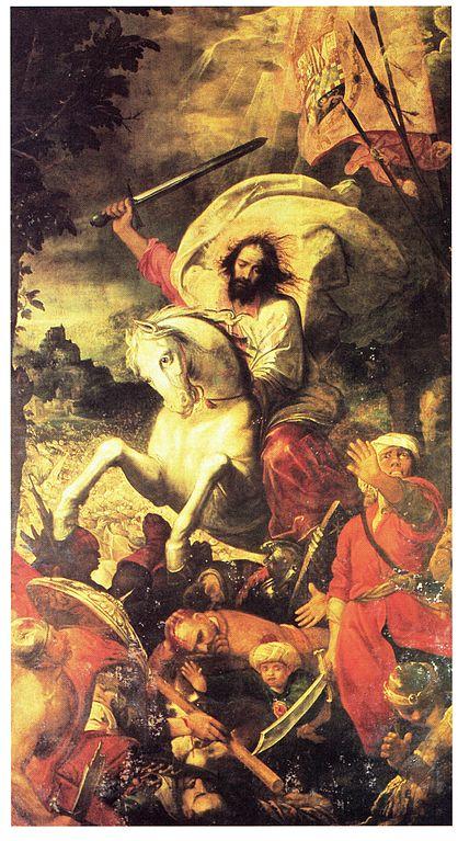 418px-El_apóstol_Santiago_en_la_batalla_de_Clavijo_(Capilla_de_Santiago_de_la_catedral_de_Sevilla)