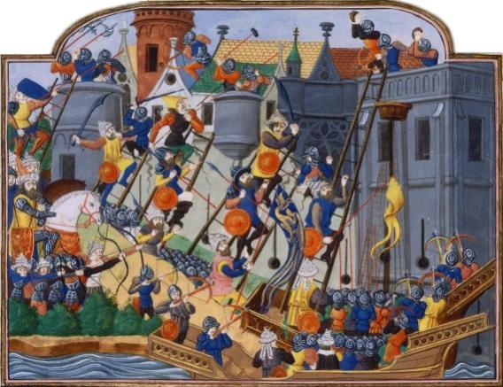 Asedio de Constantinopla. Pintura del Siglo XVI